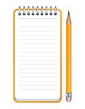 Vector pencil and notepad icon Stock Photo