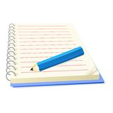 Vector pencil and notepad Royalty Free Stock Photos