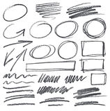 Vector pencil scribbles Royalty Free Stock Photo