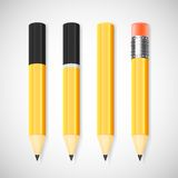 Vector pencil set Stock Image