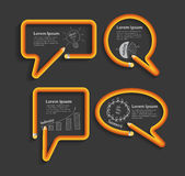 Vector pencil in shape of speech bubbles Stock Photo