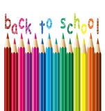 Vector pencils. back to school concept Stock Images