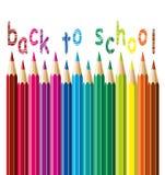 Vector pencils. back to school concept. Vector colorful pencils background. back to school concept Stock Images
