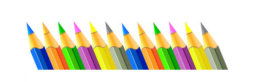 Vector pencils. Background. Stock Photography