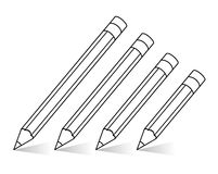 vector pencils Royalty Free Stock Photos
