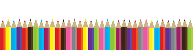 Vector pencils Stock Photography