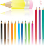 Vector pencils set Stock Images
