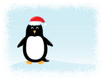 Vector penguin greeting card Stock Photography