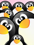 Vector Penguins Royalty Free Stock Photo