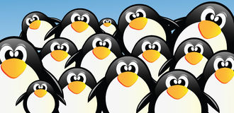 Vector Penguins Royalty Free Stock Image