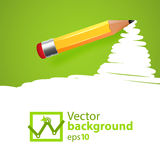Vector pensil background with drawn spot Royalty Free Stock Photo