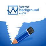 Vector pensil background with drawn spot Royalty Free Stock Image