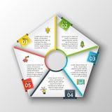 Vector pentagon infographic. Stock Photos