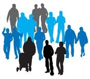 Vector People Royalty Free Stock Photo