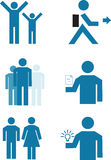 Vector people. A set of vector people and clips royalty free illustration