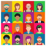 Vector people avatar icons Royalty Free Stock Photos