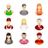 Vector people avatars Stock Image