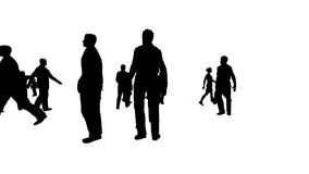 Vector People (Camera Fly-Through HD) stock footage