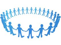 Vector People In Circle stock illustration