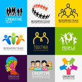 Vector People Collection Royalty Free Stock Image