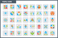 Vector People Colorful Icon Set. A character designed to explain business topics such as finance Stock Photo