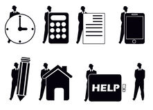 Vector people group business. Vector illustration people group business isolated Stock Images
