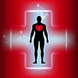Vector-people with heart disease abstract background Stock Image
