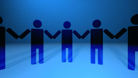 Vector People Holding Hands stock video footage