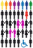 Vector people icon set Stock Image