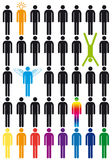 Vector people icon set Royalty Free Stock Photos