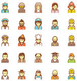 Vector people icon set Stock Photos