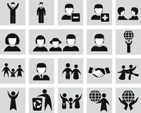Vector  people icons set Stock Photos