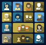 Vector people icons set Royalty Free Stock Image