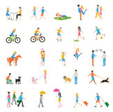 Vector people large set Royalty Free Stock Image