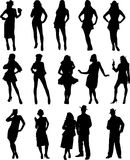 Vector people  pose. Vector image of woman figure Royalty Free Stock Photography