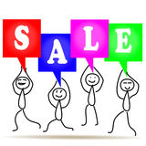 Vector people sale Royalty Free Stock Image