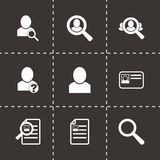 Vector people search icon set Stock Photo