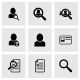 Vector people search icon set Royalty Free Stock Photography