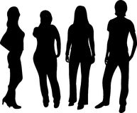 Vector people silhouette Royalty Free Stock Images