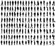 Vector people silhouettes  Royalty Free Stock Images