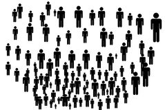 Vector people silhouettes Royalty Free Stock Photo