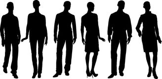 Vector people silhouettes Stock Photo