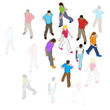 Vector People Walking Royalty Free Stock Image