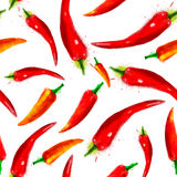 Vector pepper seamless pattern Royalty Free Stock Photo
