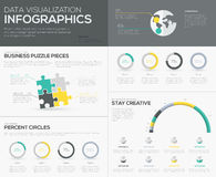 Vector percent infographics for creative data visualization Stock Image