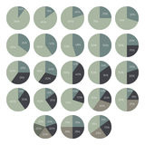 Vector percentage infographics. 10 15 20 25 30 35 40 45 50 55 60 65 70 75 80 85 90 percent pie charts. Circle diagrams isolated Royalty Free Stock Image