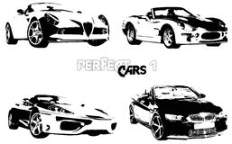 Vector perfecte auto's 1 stock illustratie