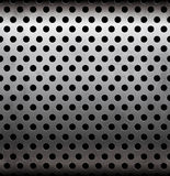 Vector perforated metallic seamless pattern Stock Image