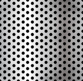 Vector perforated metallic seamless pattern Royalty Free Stock Image