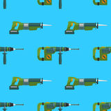 Vector perforator reciprocating saw pattern Stock Photography